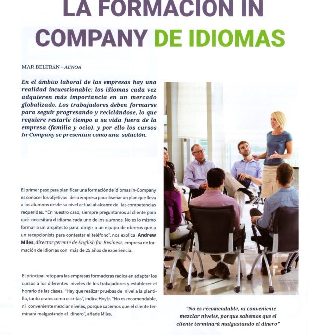 English for Business en la Revista Formación y RR.HH.